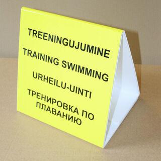 Kolmnurkne hoiatussilt - Treeningujumine