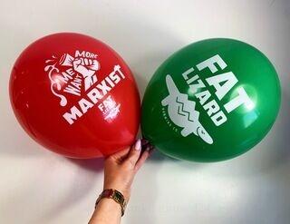 Õhupallid trükiga - Fat Lizard