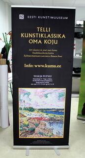 Eesti Kunstimuuseumi rollup stend
