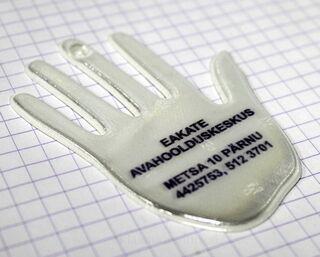 Kädenmuotoinen pehmoheijastin