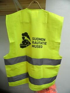 Heijastinliivi Suomen Rautatie Museo