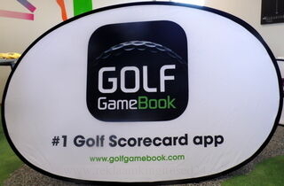 Ovaaliset Soft bannerit Golf GameBook