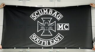 PVC banderolli Scumbag South East