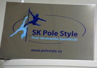 Ruostumattomasta teräksestä julkisivukyltti  SK Pole Style