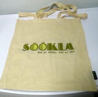 Kangaslaukku logolla Doonor