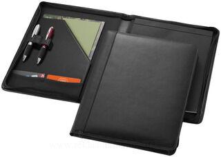 Harvard A4 leather zipper portfolio