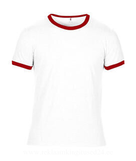 Adult Fashion Basic Ringer Tee 4. pilt