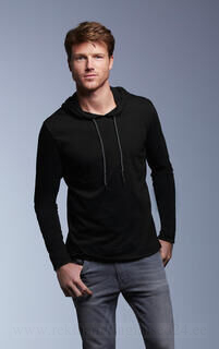 Adult Fashion Basic LS Hooded Tee 9. pilt