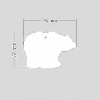 Helkur jääkaru 73x51mm