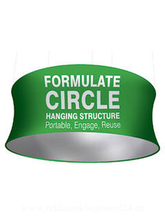 Circle Hanging Strucure Fabric Display 610x3048mm