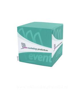 Single advertising pouf 50x50x50cm