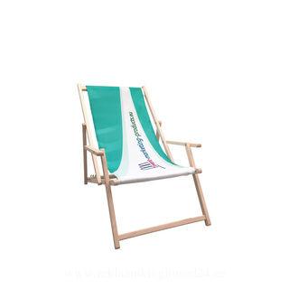 Deck chair with armrest