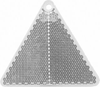 Reflector triangle 67x59mm clear