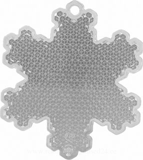 Reflector snowflake 58x66mm clear