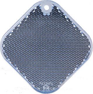 Reflector square 63x63mm blue