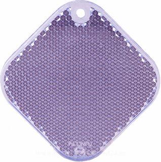 Reflector square 63x63mm purple