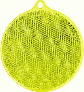 Reflector round 55x61mm yellow