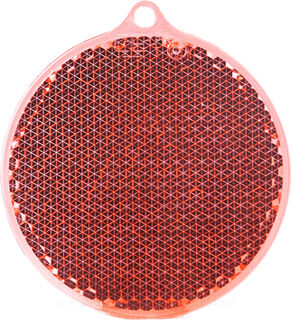 Reflector round 55x61mm red