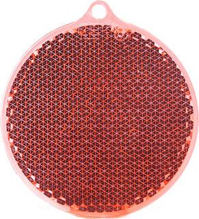 Reflector round 55x61mm red