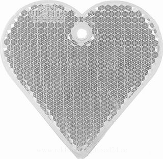 Reflector heart 57x57mm clear